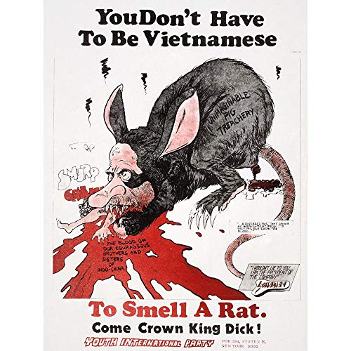 Wee Blue Coo Protest Vietnam War Richard Nixon Rat Caricature Unframed Wall Art Print Poster Home Decor Premium