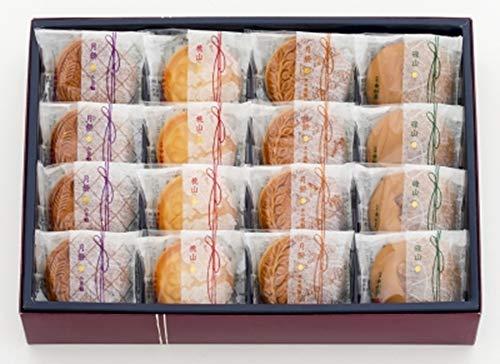新宿 中村屋 自慢詰合わせ 月餅 和菓子 (16個入り 国産もち米あられ1個セット)
