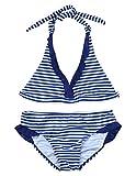 IEFIEL Fille Maillot de Bain A Rayé Deux Pièces Bikini à Bretelle Tankini Vacances...