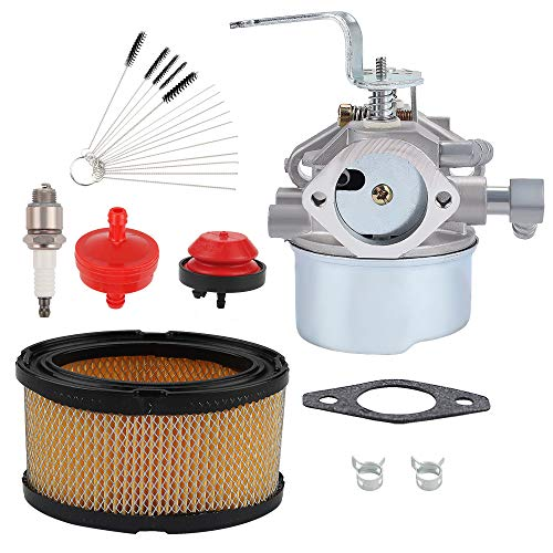 Mengxiang 640152 Carburetor for Tecumseh 8-10 HP 640152A 640260a 640023 640051 640140 HM80 HM90 HM100 8hp 9hp 10hp Tecumseh Engine Coleman PowerMate 5000 watt Generator with Air Filter Spark Plug kit