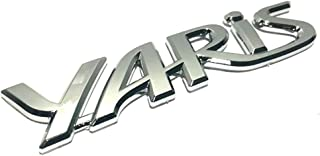 ihave Replacement For Badge Chrome Decal Logo Emblem Tailgate Rear Sticker JDM Toyota Yaris