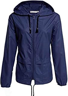 SOMTHRON Women's Active Outdoor Packable Waterproof Raincoat Jacket 2XL Lightweight Hooded Sports Windbreaker Plus Size