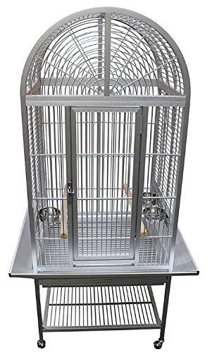 Aluminum Arch Top Bird Cage ACA2522 Silver