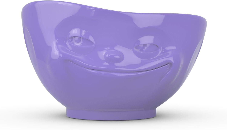 store TASSEN Porcelain Bowl Grinning Face Wholesale Purple Si Edition oz. 16