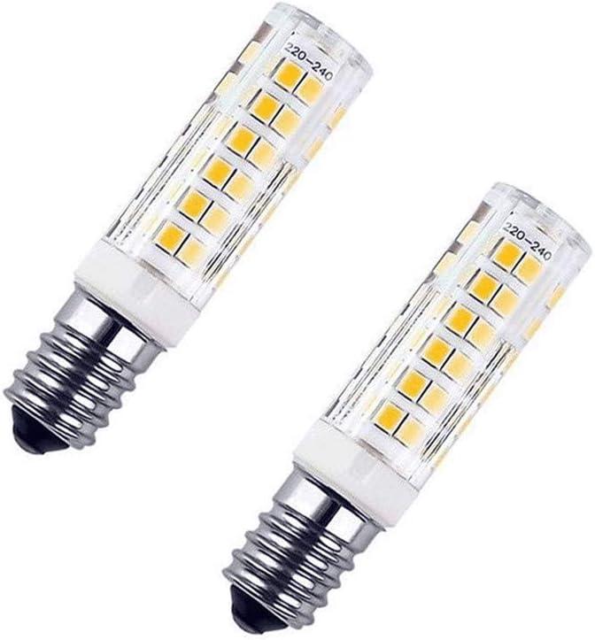 Warm White, 5 PCS LEKIBOP E12 LED Bulbs Beads Lighting AC 220V 5W Energy Saving Corn Light 75 Pcs 2835 SMD Bi-Pin E12 Base No Strobe Flicker Free Halogen Replacement Under-Cabinet Light Puck Light