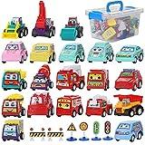 Coches de Juguetes, Coche Metalico Juguete, Mini Coches Cars, Juguete Coches, Coches Juguete para Niños, Juguete Camión de Transporte Coches de Juguetes Metalicos Conjunto de Juguetes para Niños Niñas