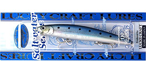 Lucky Craft Fishing Lure CIF Flash Minnow 110 California Inshore Fishing, 4-1/2-Inch (110mm), Metallic Sardine