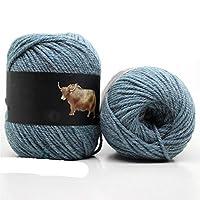 SLZC 編み物のための5ピースヤクウール糸編まれた幻想的な混合かぎ針編み糸編みセータースカーフ500 /ロット (Color : 5pcs 15)
