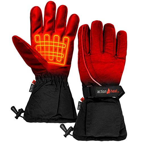 ActionHeat AA Battery Heated Snow Gloves – Men Rechargeable Electric...