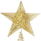 TheStriven Decorazione a Forma di Stella a 5 Punte per Albero di Natale...