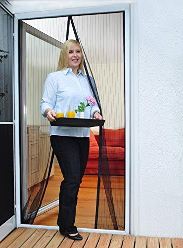 Mosquitera magnética para puerta, 100 x 210 cm, protección óptima contra moscas y insectos