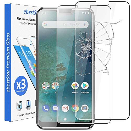 ebestStar - kompatibel mit Xiaomi Mi A2 Lite Panzerglas [x3 Pack] Schutzfolie Glas, Schutzglas Displayschutz, Displayschutzfolie 9H gehärtes Glas [Phone: 149.3 x 71.7 x 8.8mm, 5.84'']