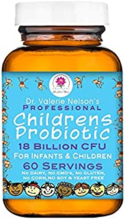 Professional Infant, Childrens & Kids Probiotic - Dairy Free - 18 Billion CFU - 60 Servings for Wellness Support & Digesti...