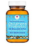 Professional Infant, Childrens & Kids Probiotic - Dairy Free - 18 Billion CFU - 60 Servings for Wellness Support & Digestion by Dr. Valerie Nelson