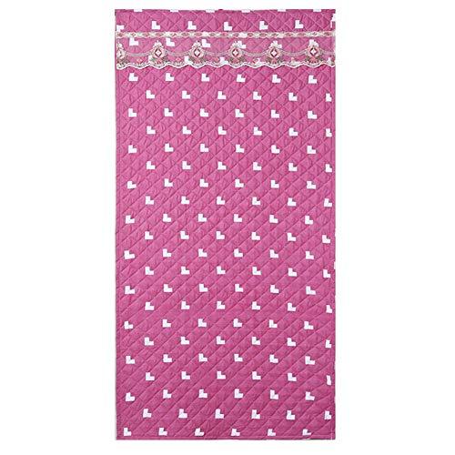DWXN Patrón de Amor Rosa de Dibujos Animados Cortinas Termicas 100x220cm/39.4x86.7in Cortinas Ventanas Salon para Patio Corridor The Mall
