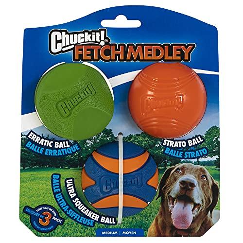 ChuckIt Fetch Medley Ensemble de 3 balles pour Chien
