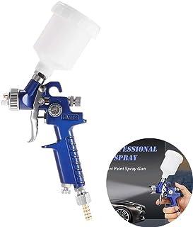Pistola Rociadora 1,0mm HVLP Pistola Pulverizadora Aerográfica Alimentación por Gravedad 120cc para reparación de pintura de automóviles
