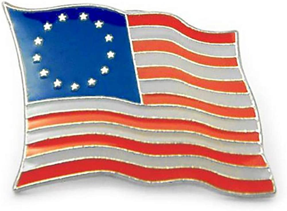 Betsy Ross 13 Stars Flag Lapel Pin 7/8