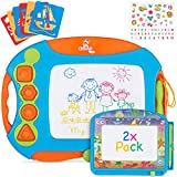 CHUCHIK Magnetic Drawing Board Set for Kids and Toddlers. Large 15.7 Inch Magna Doodle Writing Pad Comes with a 4-Color...