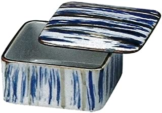 小碗 : 56-10663 万古烧 可用微波炉加热 刷毛画(带盖) 美食厨房 11x11x5.5cm 380cc SANTO