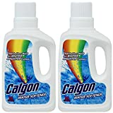 Calgon Liquid Water Softener, Brighter Clothes, Laundry Detergent Booster 32 Ounce (Pack of 2)