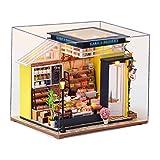 sharprepublic DIY casa de muñecas en Miniatura de Madera 1/12 Kit Creativo de Muebles para pastelería fantasía niños Adultos Festival Regalo 6 años de Edad Festival - con Cubierta
