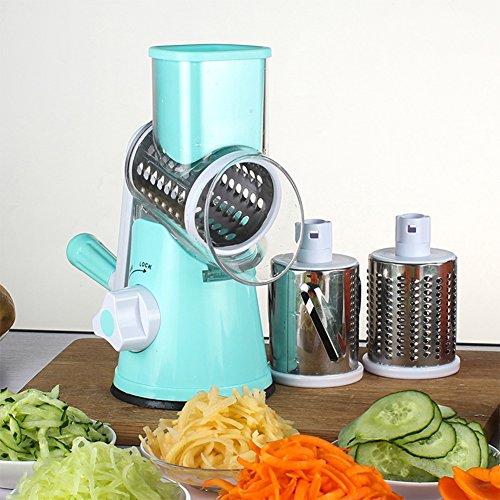 REFURBISHHOUSE Rebanador Cortador de Verduras Manual Accesorios de Cocina Rebanador mandolina Redondo Multifuncional Gadgets de Cocina Queso Patata