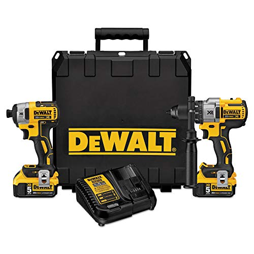 DeWalt XR 2-Tool 20V MAX LI-ION Cordless Brushless Drill/Driver + Impact Driver Combo Kit with Hard Case DCK299P2 (Charger and (2) 5.0Ah Batteries Included) $289 + Free Shipping