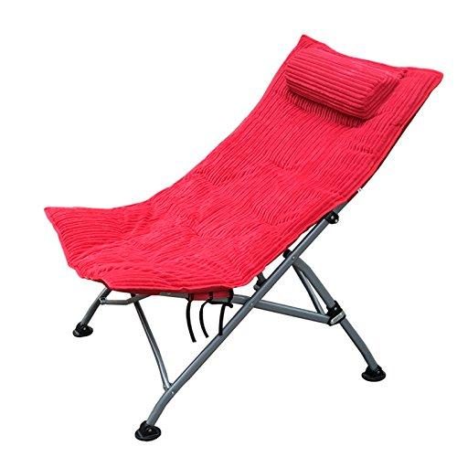 Accueil Extérieur Individuel Pause déjeuner Chaises Chaise longue N Chaises pliantes Chaise longue Fauteuil Chaises longues (Couleur : RedB)