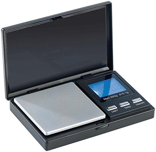 Rosenstein & Söhne Gramm Waage: Digitale Taschen-Feinwaage bis 300 g, Teilung 0,1 g (Mini Waage)