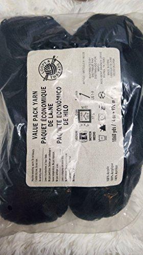 Loops & Threads Value Pack Black Yarn