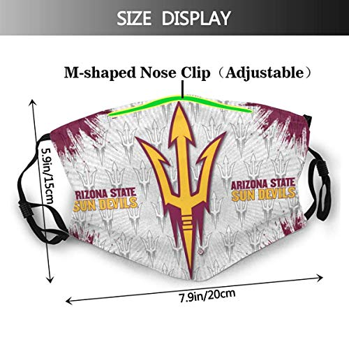 Asu 3d Printing Face mask Protection Balaclava Face Cover Bandana Gaiter Balaclava Unisex Scarf HeadwearOne Size