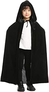 Aricy Kids Hooded Velvet Cloak Cape for Christmas Halloween Role Play Cosplay Costume