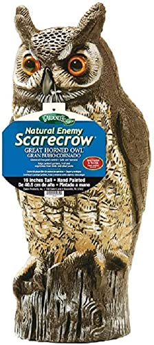 Dalen Natural Enemy Scarecrow Great Horned Owl, Chemical-Free pest Control, Safe and Humane, Protect...