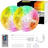 Aigostar Tiras LED 10M, RGBIC Multicolor Tiras de Luces LED con Control Remoto, Tira LED de Cambio...