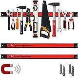 Deuba 2x Magnetleiste 60cm 23kg Tragkraft Montagematerial Werkzeugleiste Messerleiste Werkzeughalter...