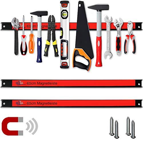 Deuba 2x Magnetleiste 60cm 23kg Tragkraft Montagematerial Werkzeugleiste Messerleiste Werkzeughalter Werkstatt