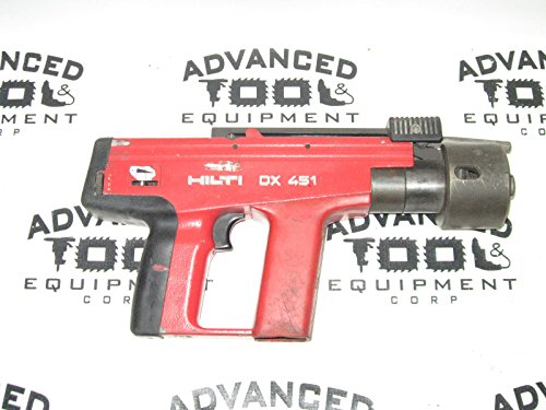 Hilti DX 451 Powder Actuated Nail Nailer Gun with Case & Accessories DX451