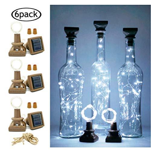 Sarplle Kork Flaschen Lichter Solar Nachtlicht 20 LEDs 2M Solarleuchte Lichterketten wasserdicht Flaschenlicht für DIY, Party, Dekor, Weihnachten, Hochzeit