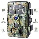 Victure Cámaras de Caza 20MP 1080P IP66 de Fototrampeo con Detección Nocturna sin LED de Brillo de 850nm IR Camaras de Vigilancia Ocultas de la Vida Silvestre para Seguimiento Cinegético de Fauna