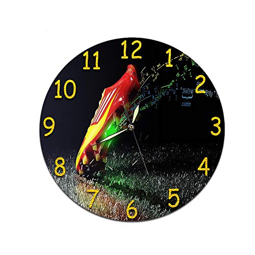 LUOYLYM Wohnzimmer Kunst 3D Digital Retro Wanduhr Acryl Stumm Hause Kreative Mode Uhr Randlose Wecker P190430-194 (Luminous Pointer) 28CM
