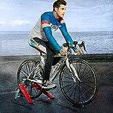 WLKQ Rodillos para Bicicleta - Magnética Soporte de la Bici Trainer - Bici magnética Turbo Traine - Marco Resistencia Variable Bicicleta Aptitud del Ejercicio estacionario,Red