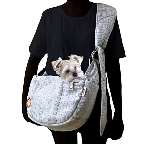 Alfie Pet - Bristol Pet Sling Carrier - Color: Light Grey