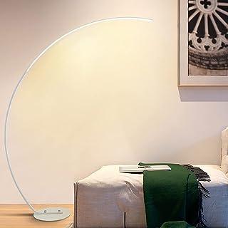 Lampadaire Arc LED Moderne, Lampadaire sur Pied Salon Dimmable avec Télécommande, Facile à Monter sans Scintillement Soin ...