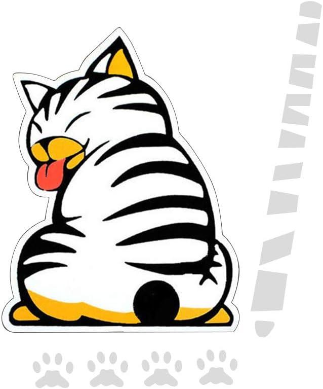 Autocollant DEssuie Glace De Chat Autocollants DEssuie-Glace Arri/èRe De Voiture Autocollant De Voiture Mignon Autocollants De Voiture Cr/éAtifs Personnalis/éS Chat Blanc
