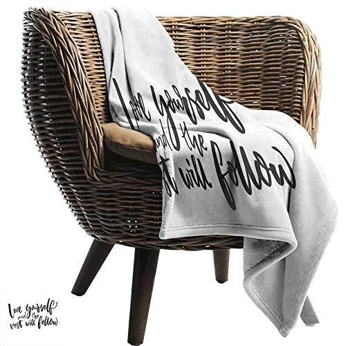 ZSUO koele deken Quote, Is Het Vrijdag Nog Grappige Vraag Zakelijke Mensen Weekend Vakantie Sky Blauw Aarde Geel en Oranje Gooi Lichtgewicht Cozy Pluche Microvezel Effen Deken