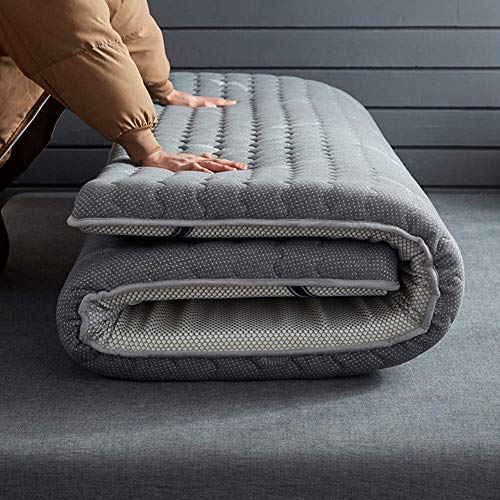 Best Price Japanese Traditional Futon, Thicken Tatami Mat Sleeping Pad, Soft Futon Floor Mattress, Breathable Tatami Fold Wool Wrap Mattress Thick Warm Bed Pad Double Sleeping Mat,Gray,150x200cm/59×79 inch