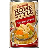 Chicken noodle soup crafted just like home with chicken meat with no antibiotics, fresh vegetables and egg noodles Packaged in anon-BPA-lined, 18.6 oz. recyclable can No preservatives added The difference you can taste Crafted from a place you trust...