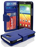 Cadorabo Book Case works with LG L90 in NEPTUNE BLUE –