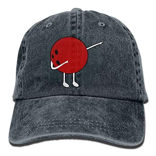 Wdskbg Einstellbare garngefärbte Denim-Baseballmützen, die die Snapback-Kappe der Bowlingkugel betupfen. Multicolor42